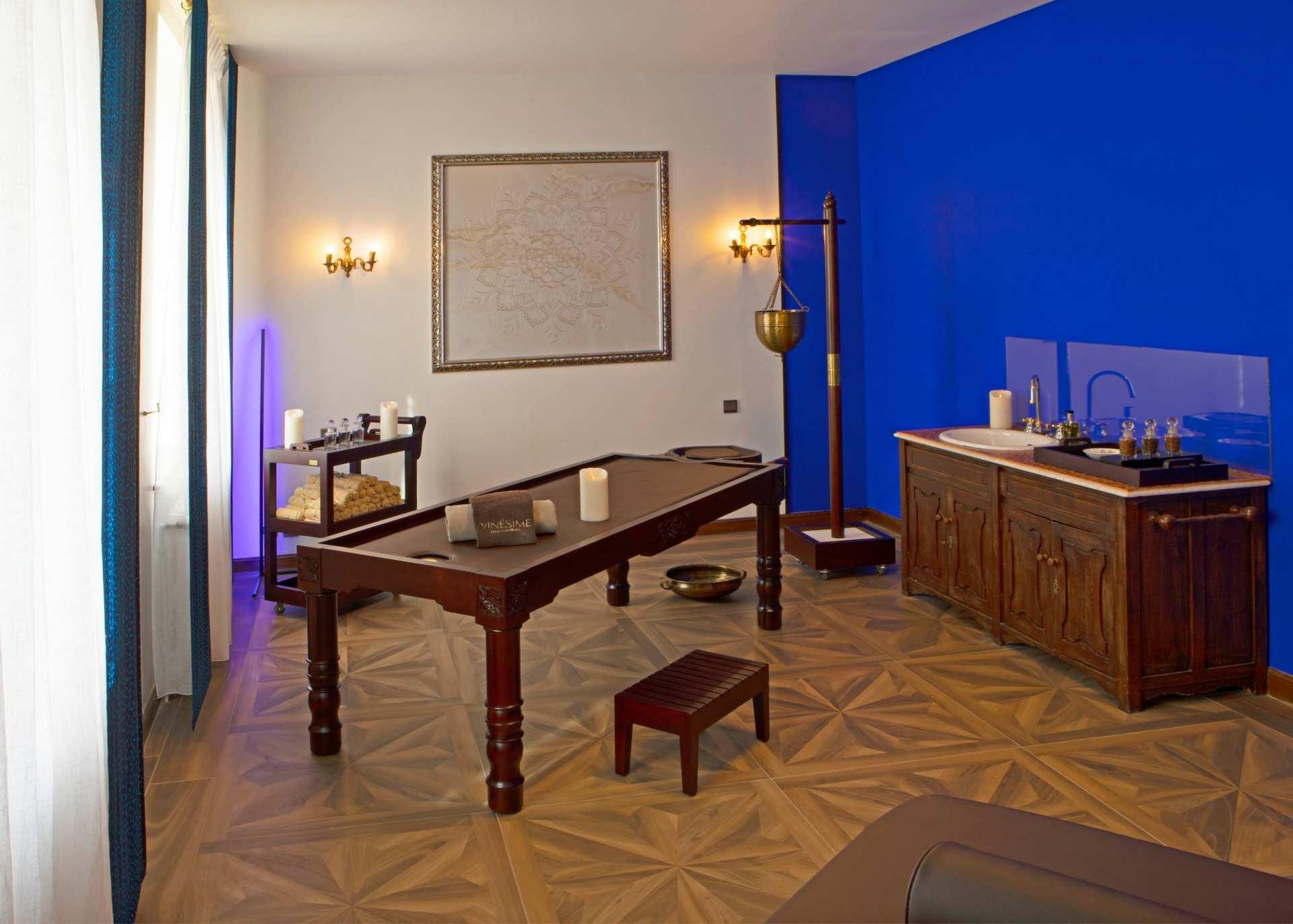 Chambre ayurvédique bleue 1